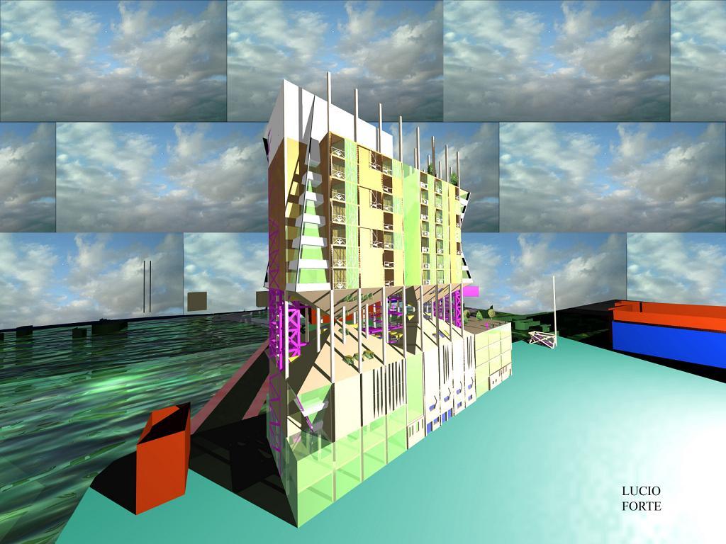 Futuristic Building 2 - Lucio Forte - Digital Art - 105 €