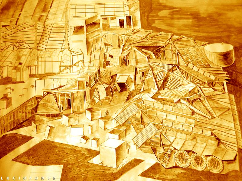 Science Fiction Library 8 - Lucio Forte - 3D Modeling, mista su carta, digital art