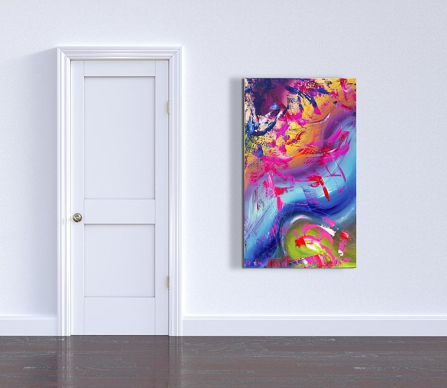 Gesture, 60x100 cm - Davide De Palma - Action painting - 1000 €