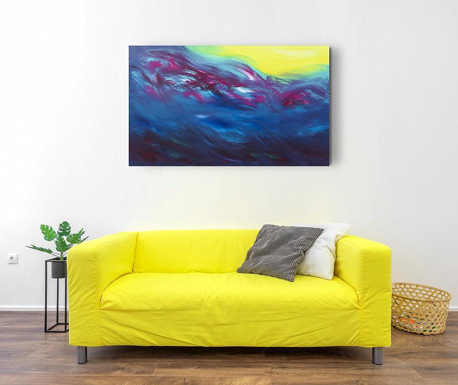 The sun warm me, 100x60 cm - Davide De Palma - Acrilico - 350 €