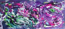Clumsy, 200x90 cm - Davide De Palma - Action painting - 1800€