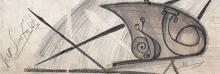 l'ingranaggio della vita -bozza dettaglio- - daniele Rallo  - matita