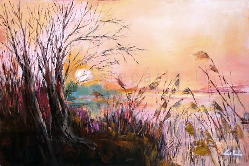 La magia di un nuovo tramonto  - Carla Colombo - Olio -  €