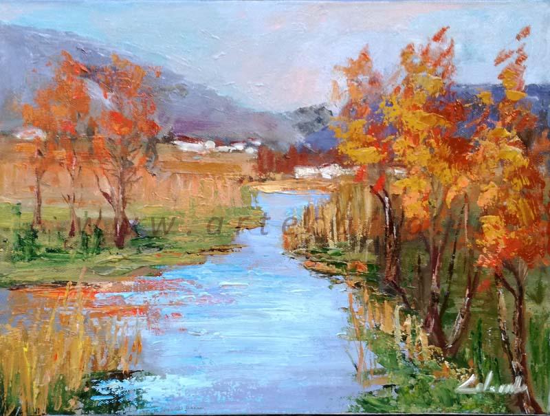 Uno sguardo oltre i colori d'autunno - Carla Colombo - Olio - 320 €