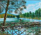 Il laghetto di Rumia - Giuseppe IARIA - Acrilico - 70 €