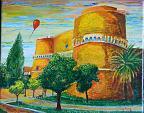 Il palloncino rosso Castello Aragonese  - Giuseppe IARIA - Acrilico - 80 €