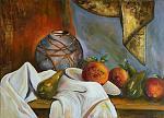 Natura morta con vaso arance e pere - Giuseppe IARIA - Acrilico - 250 €