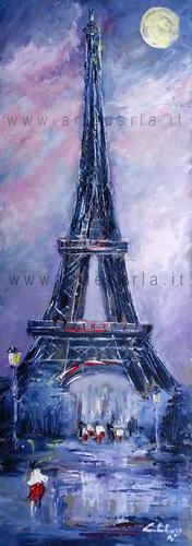 Magicamente insieme a Parigi  - Carla Colombo - Olio -  €