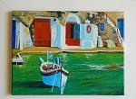 Borgo dei marinai, Milos - Giuseppe IARIA - Acrilico - 100 €