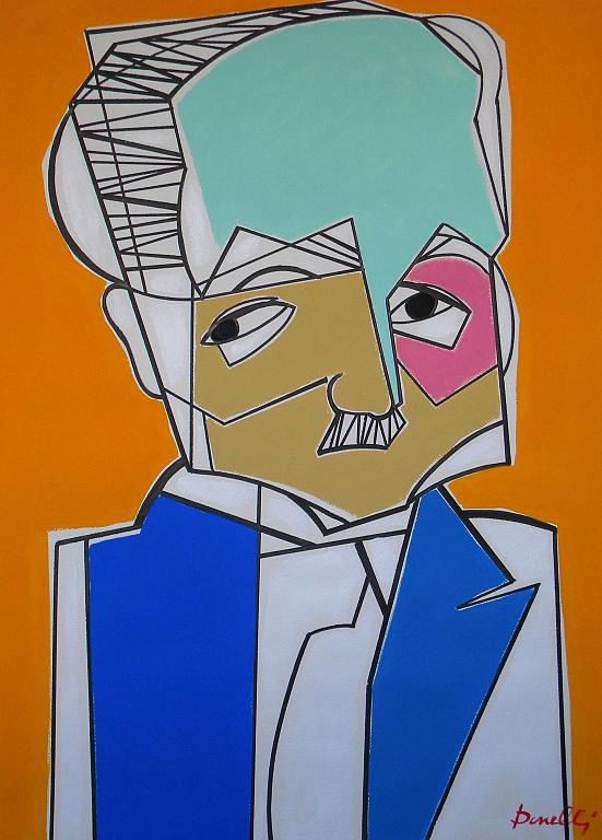 Ritratto di Martin Heiddeger  - Gabriele Donelli - Acrilico - 1700 €