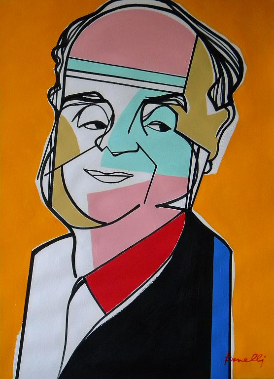 Ritratto di Italo Calvino - Gabriele Donelli - Acrilico - 1800 €