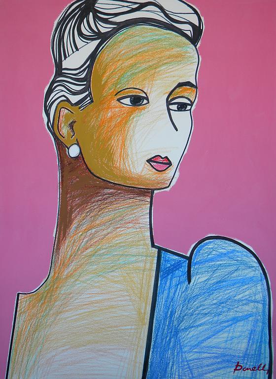 Ritratto di ragazza - Gabriele Donelli - Pastello e acrilico - 2300 €