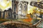 Castillo - Lucio Forte - Acrilico, vinvavil, bruciature, acquerello e tempera su xerocopia applicata su tavola