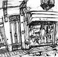 130 Emilia Street - Lucio Forte - China a pennino su tela - 98 €