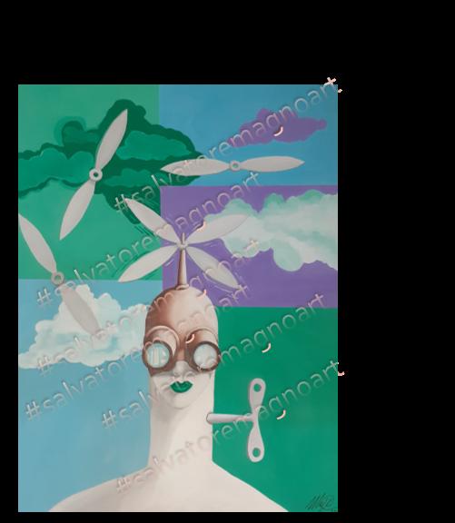 La carica - salvatore magno - Tempera - 800 €