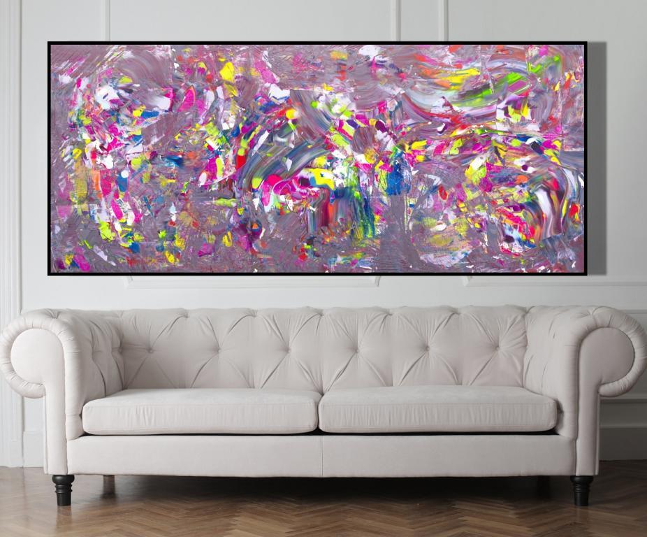 All colors in a jazz composition, 200x90 cm - Davide De Palma - Acrilico - 1800 €