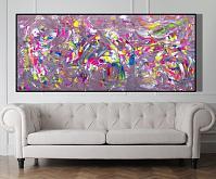 All colors in a jazz composition, 200x90 cm - Davide De Palma - Acrilico - 1800€