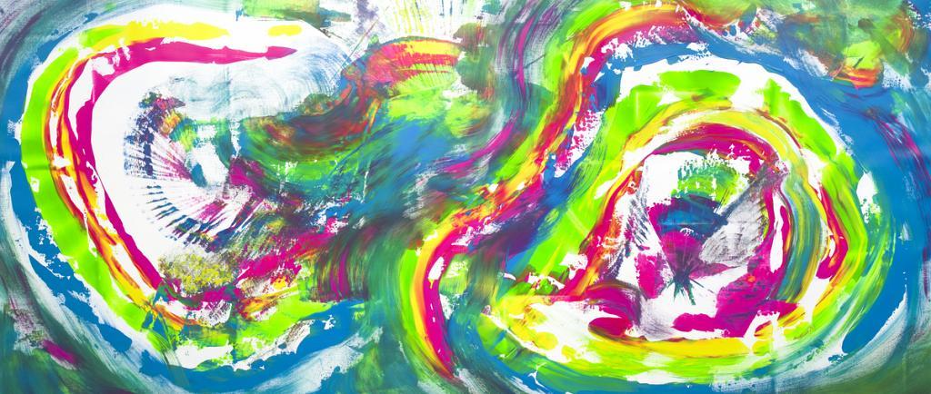 Infinite rainbow, 200x90 cm - Davide De Palma - Action painting - 850 €