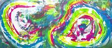 Infinite rainbow, 200x90 cm - Davide De Palma - Action painting - 850€