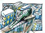 Green Cat - Lucio Forte - China a pennino e acquerello su carta -  €