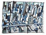 NY 1955 - Lucio Forte - Acquerello, china e acrilico su carta -  €