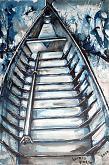 Adda River 4 - Lucio Forte - China a pennino, acrilico e acquerello su tela
