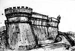 Sarzanello Fortress - Lucio Forte - China su tela - 145 €