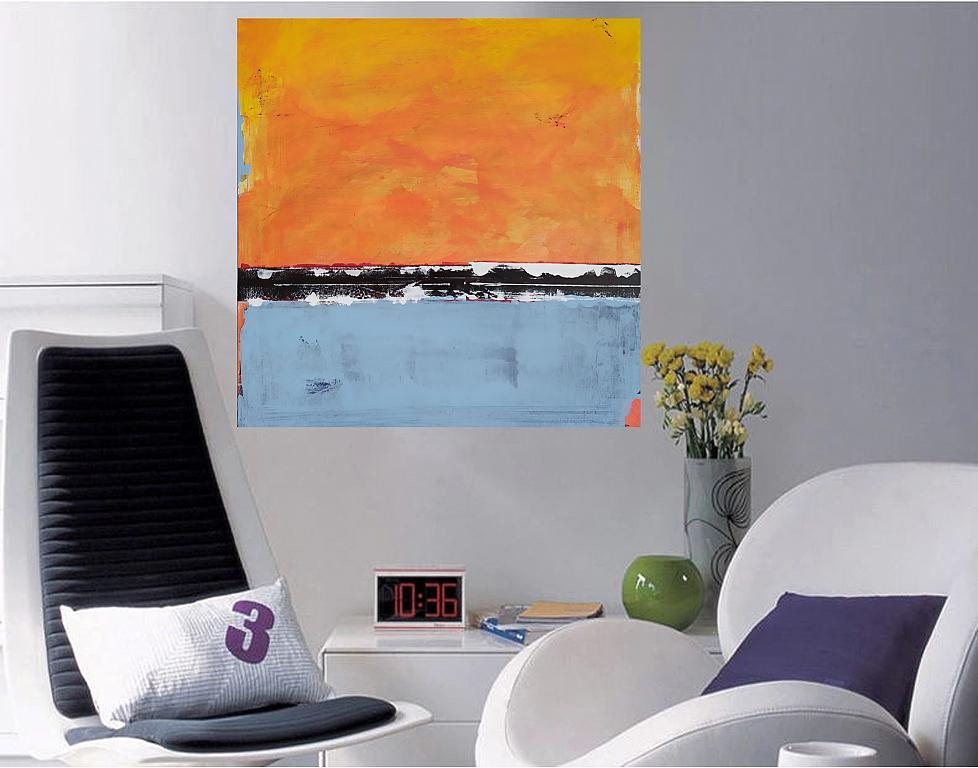 Orange e  turquise - aliz polgar - mista