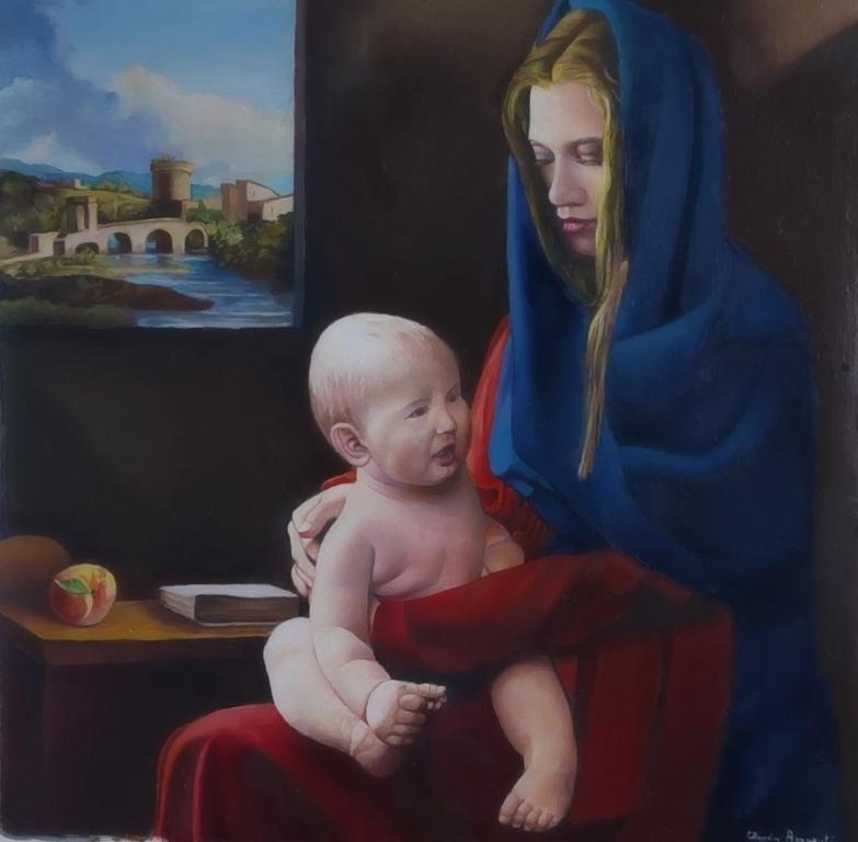 Madonna con il Bambino - Claudio Apparuti - Olio - 400 €