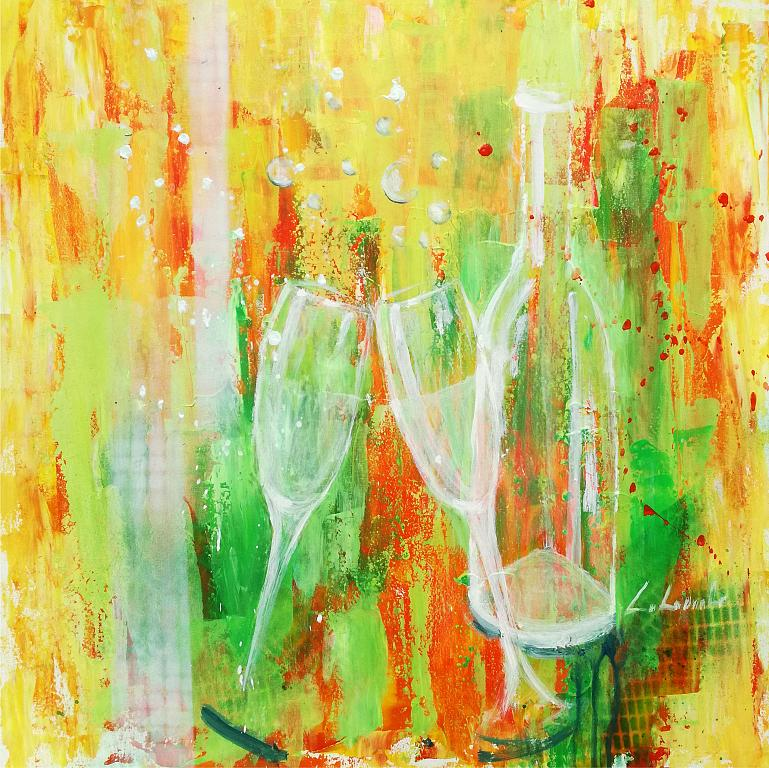 Cin cin alla vita  - Carla Colombo - olio e acrilico