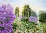 L'alba di un nuovo giorno - Larisa  Smirnova - Olio