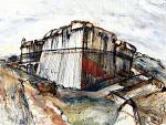 Sarzanello Fortress 3 - Lucio Forte - China, acrilico ed acquerello su tela - 210 €